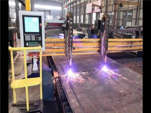Drive bikoitza Gantry CNC Plasma Ebakitzeko Makina H Beam Produkzio Line Hypertherm CNC Sistema