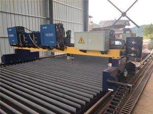 Altzairu solidoa H hazteko produkzio linea ebakitzeko makina bikoitzeko gantry CNC mozteko makina