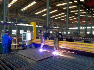 Gantry CNC Plasma Ebakitzeko Makina eta sugarra ebakitzeko makina altzairuzko plaka egiteko