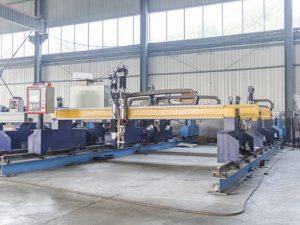 Gantry mota inteligenteak cnc metalezko plaka ebaketa makina automatikoa plasma eta sugar mozteko makineria