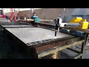 metal altzairua ebakitzeko makina mini garraiatzeko sugarra, plasma mozteko makinaren prezioa
