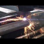 salmenta cnc plasma ebakitzeko makina metalezko hodien birakariarekin, plasma-mozketarekin